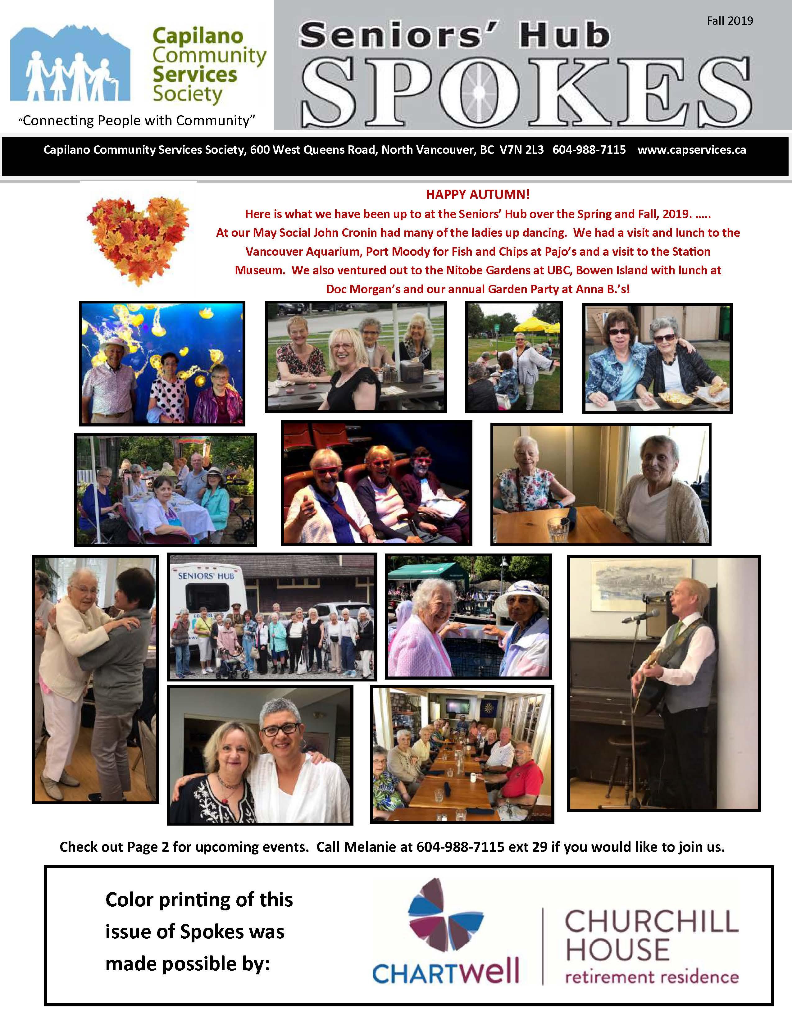Seniors' Hub Spokes