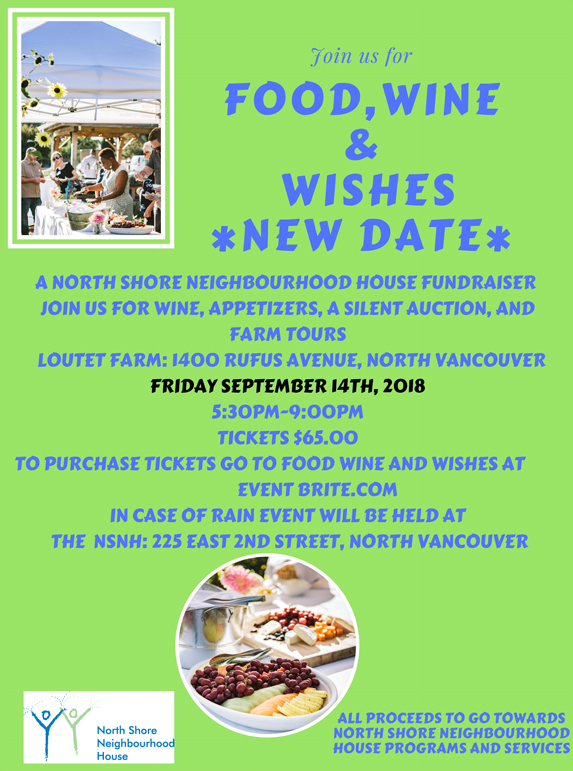 Food, Wine, Wishes event