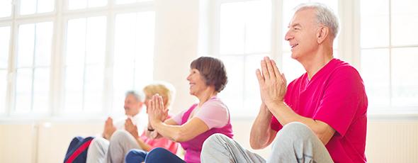 Seniors practicing Yoga for BC Seniors Week