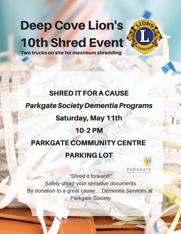 Deep Cove Lion's 10th Shred Event